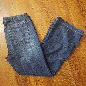 Cabi dark wash super flared jeans (style #881R)